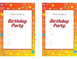 children party invitation templates blank birthday party invitation template invitations near me