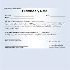 Sample Of Promissory Note Demand Promissory Note Sample Image ...