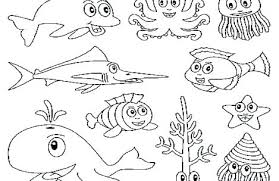 Ocean Life Coloring Pages Trustbanksurinamecom