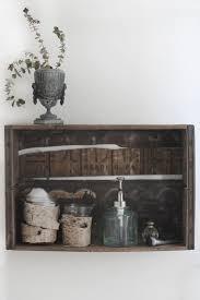 bathroom crate shelf