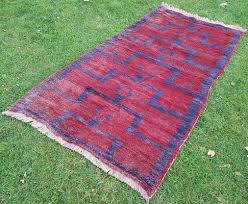 vintage turkish flokati rug 1970s 2