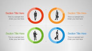 employee skills powerpoint template slidemodel quadrant employee donut chart