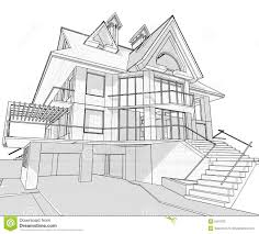 Architecture House Drawing Donatzinfo