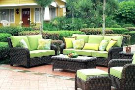 patio green patio furniture wicker couch cushions ideas outdoor with cushion and sets on a