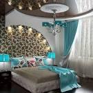 Дизайн спальни бирюзовые тона