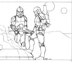 Clone Trooper Helmet Coloring Pages Star Wars Clone Trooper Pen By