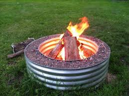 corrugated metal 48 fire pit ring