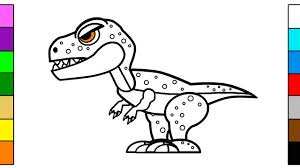 Small Picture Learning Colors for Kids with Big Dinosaur Coloring Page YouTube