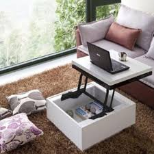 white lacquer lift top coffee table