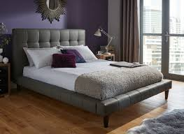 tatum grey faux leather bed frame  dreams