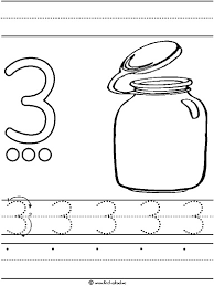 Small Picture Number tracing worksheets Crafts and Worksheets for Preschool