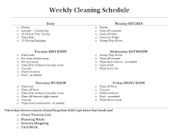 Weekly Chores List Template Weekly Chore Schedule Home Chores Template List Housework