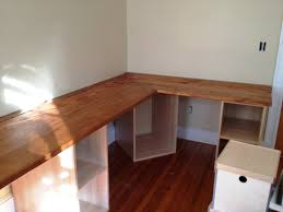 assembled desk before shelves and doors etc are added building an office desk