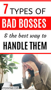 Dealing With A Bad Boss Pin On Career