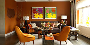 Painted Living Room Walls Shades Of Orange Best Orange Paint Colors