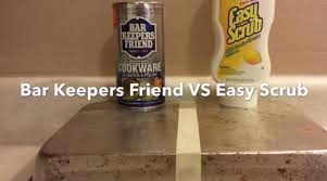 how to clean a pan bar keepers friend vs easy scrub