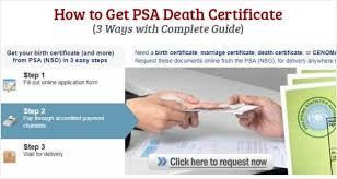 Requesting A Death Certificate How To Get Psa Death Certificate Useful Wall