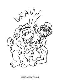 Kleurplaat Leeuw Circus Dieren