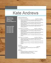 Opulent Free Contemporary Resume Templates Luxurious And Splendid
