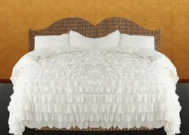 shabby chic chiffon lacy ruffle duvet cover set with cotton base size all sizes color