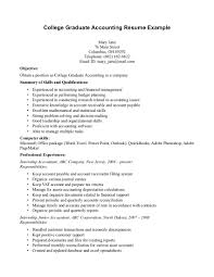 Accounting Graduate Resume Piqqus Com