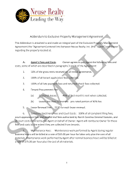 Property Management Agreements Sample Property Management Addendum 15