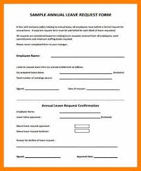 Leave Request Form Sample Cool Leave Form SampleEmployee Annual Leave Formjpg Unmiser Able