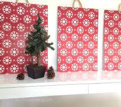 diy dcor easy holiday wall art utr dco blog