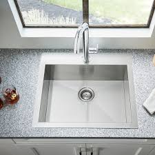 Edgewater Dual Mount 25x22 Stainless Steel Kitchen Sink American