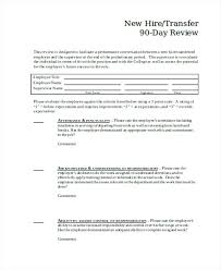 Job Evaluation Template Day Employee Performance Evaluation Form 90 Template Forms Sample ...