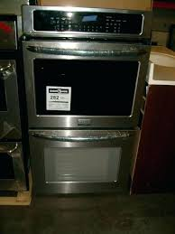 double wall oven scratch and dent stainless steel double convection wall oven double wall oven frigidaire