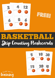 Free Skip Counting Flashcards - Look! We're Learning!
