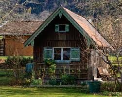 garden hut. Mysterious, Farmhouse, Estate, Log Cabin, Haunting, Rural Area, Garden Design, Shed, Witch\u0027s House, Residential Witches Hut 4848x3878