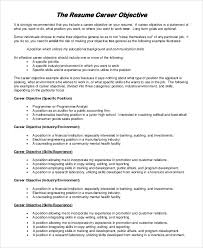 career objective resume example examples of career objectives for resume