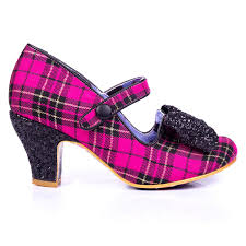 Irregular Choice Shoe Size Chart Piccolo Irregular Choice Tartan Heels In Pink