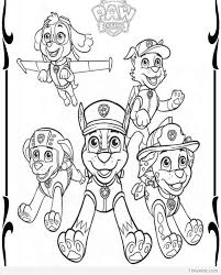 Paw Patrol Coloring Pages Free Printable Timykids