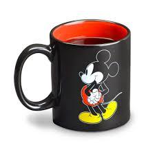 com disney mickey mouse mug warmer black red beverage warmers kitchen dining