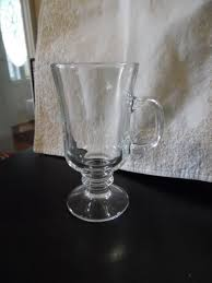 libbey irish coffee mug set 12 clear 8 5oz pedestal glass stands 6 new