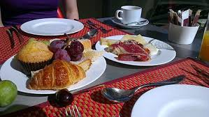 Image result for continental breakfast cheese ham yogurt croissants