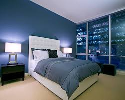... Blue Bedrooms Midnight Blue Modern Bedroom ...