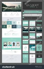 Single Page Website Design Template One Page Website Design Template All Stock Vector Royalty