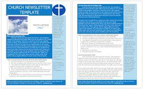 Newsletter Format Examples Free Church Newsletter Templates Worddraw Com