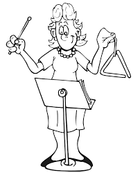 Small Picture Music Coloring Page Triangle Player