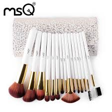 high end msq 15 pcs soft nylon hair makeup brush