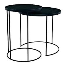 small round black coffee table black table round black coffee table round nesting tray table set