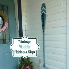 diy house numbers vintage paddle address sign diy numbers to put in front yard