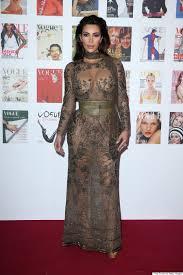 Kim Kardashian Dons Her Most Naked Naked Dress Yet At Vogue 100.