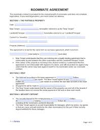 Before renting out a room, it is very important that the personal credentials of the tenant is well known. Free Roommate Room Rental Agreement Template Pdf Word