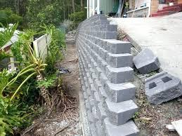 diy retaining wall blocks how to build a concrete block wall attractive small block retaining wall