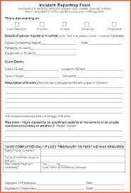 employee injury report form template injury form template incident employee injury incident report form